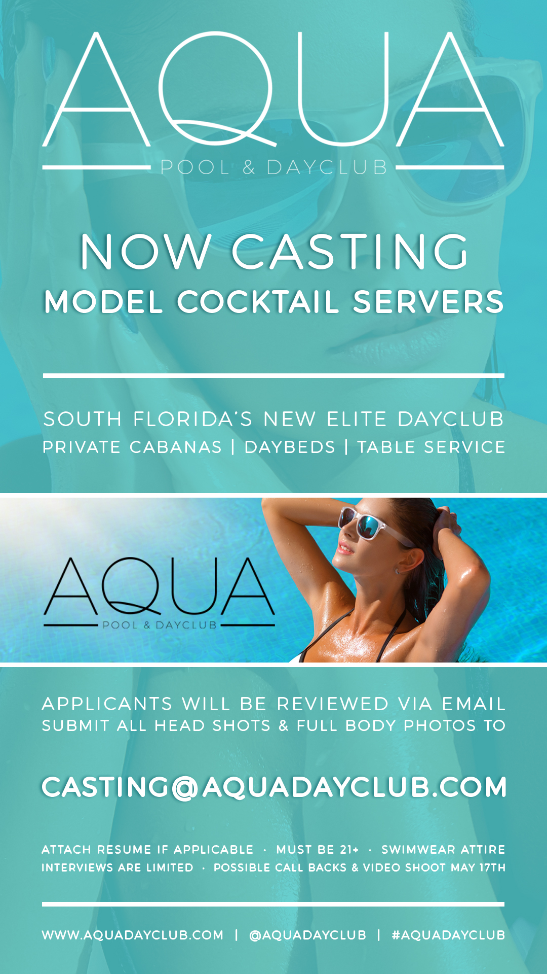 Casting Model Cocktail Servers